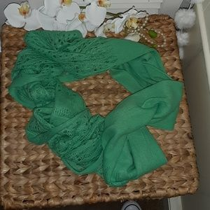 Accessories - Vibrant! Emerald green women's infinity scarf